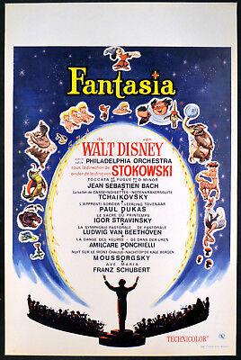 Fantasia 1940 Walt Disney Leopold Stokowski Belgian Poster Ebay
