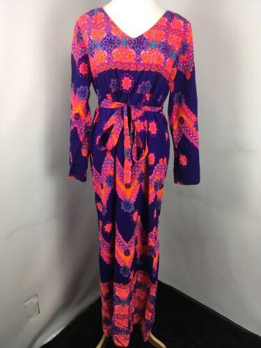 Hawaiian Kimono Belted Kamehameha 1950's Paisley P