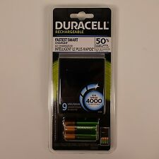 NEW Duracell ion Speed 4000 Rechargeable Battery Charger AAA AA Batteries NiMH