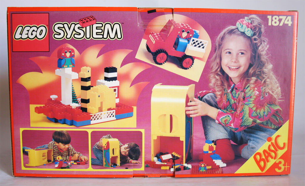 VERY RARE VINTAGE 1993 LEGO SYSTEM 1874 BASIC NEW MISB SEALED