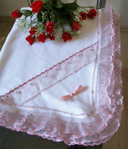 Taufdecke zu Taufkleid Baby Kinderwagendecke flecce Taufe Decke Kuscheldecke