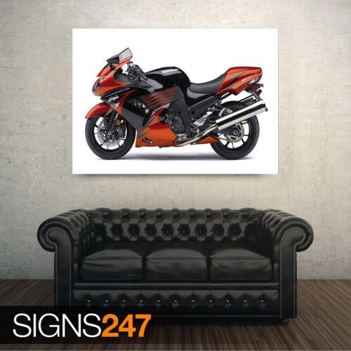 KAWASAKI NINJA ZX 14 Poster Print Art A0 A1 A2 A3 A4 1576 Motorbike Poster