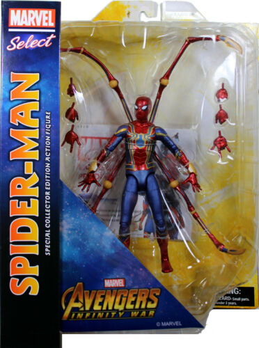 Marvel Select ~ IRON SPIDER-MAN ACTION FIGURE ~ Avengers Infinity War ~ DST