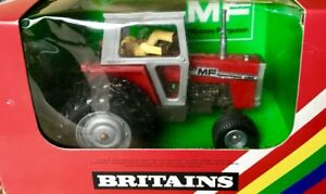 Britains-9529-Massey-Ferguson-MF-595-Double-Rear-Wheel-in-Box-Boxed-OVP
