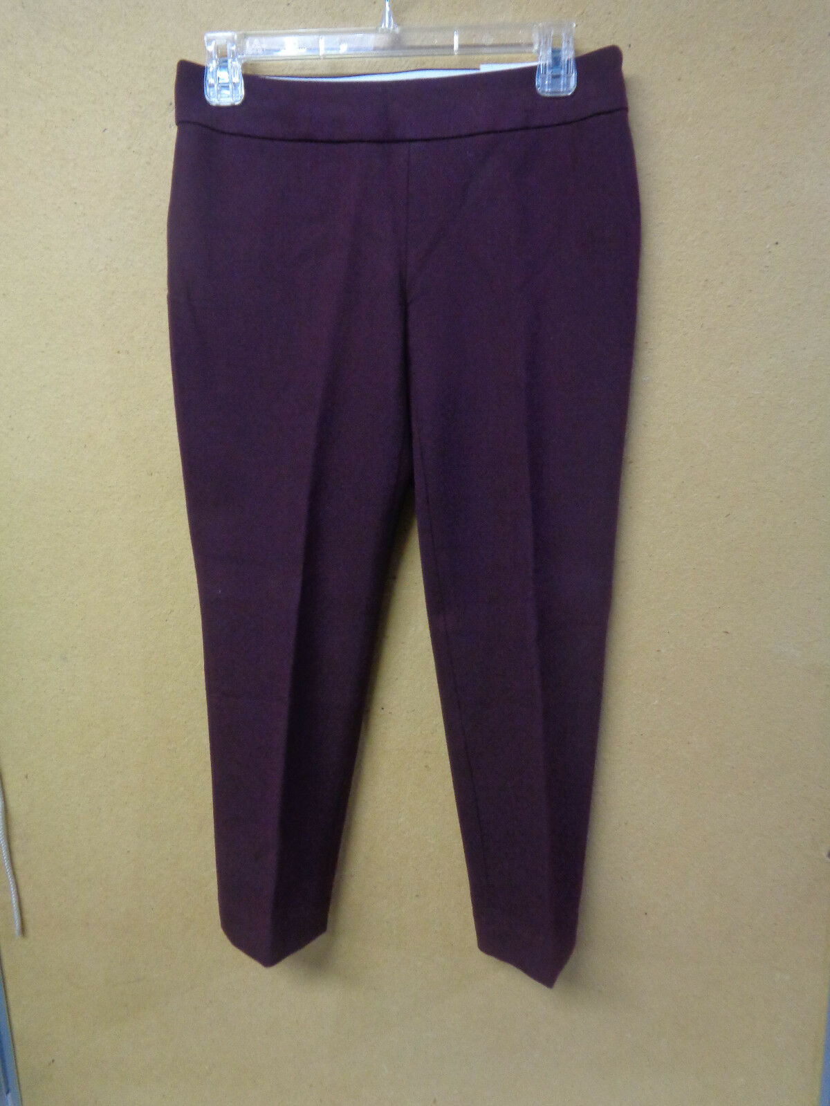 Ann Taylor LOFT Julie Skinny Ankle Dress Pants Petite Burgundy Size 0P