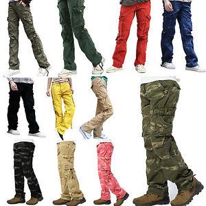 Womens-Ladies-Combat-Casual-Cargo-Cotton-Military-Boyfriend-Trousers-Pants-Jeans