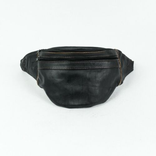 LEATHER Fanny Pack volermi Genuine Leather Belly Belt Pouch Hip Bag BUMBAG handmade