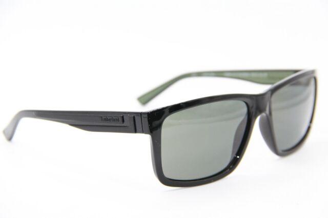 TIMBERLAND Sunglasses TB 9096 02D Polarized Top Matte Black Blue Smoke 59 mm