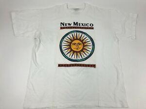 Vtg-90s-NEW-MEXICO-graphic-Celestial-Sun-PSI-Single-Stitch-XL-Souvenir-T-Shirt