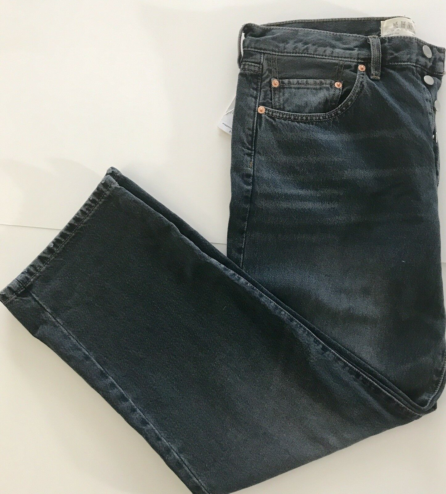 Free People Women's Jeans, Westminister bluee, Button Fly, Size 28, NWT