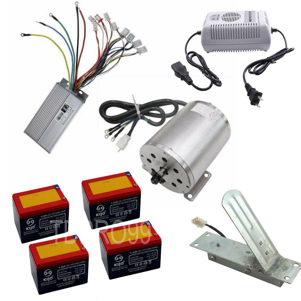 48V 1800w Brushless Motor Speed Controller Througetle Pedal Batteries w  Charger