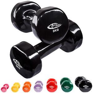 Ensemble-2x-halteres-en-vinyle-fitness-poids-aerobic-musculation-Gym-yoga-sport