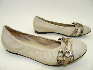 Damen Sommer Schuhe Größe 39 Beige Ballerina