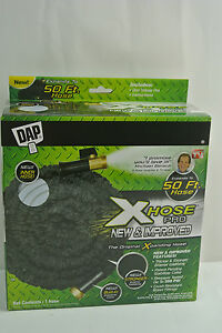 New-Xhose-PRO-50ft-Dap-EXTREME-Expanding-Hose-Black-with-Solid-Brass ...