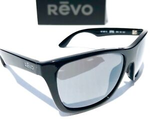 9dd9468280 NEW  REVO OTIS BLACK frame w POLARIZED Gray Lens Sunglass 1001 10 GY ...