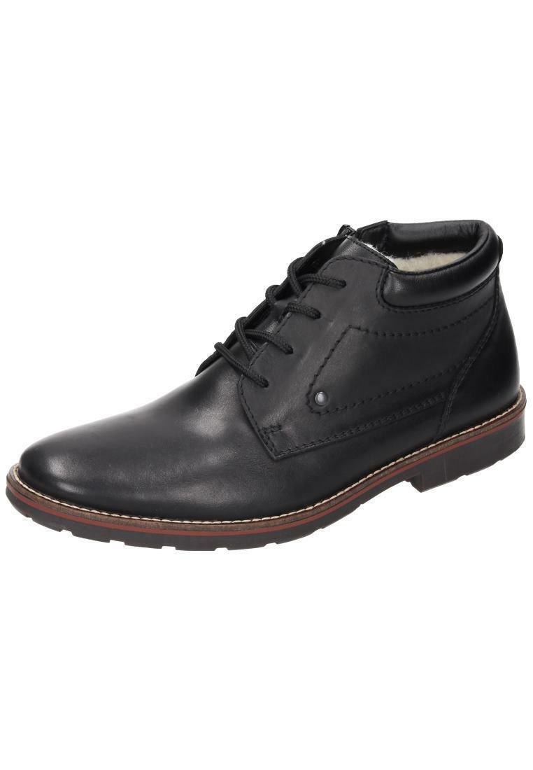 Rieker bota botas de invierno de cuero caballero zapatos negro Gr. 40-46 35332-00 neu14