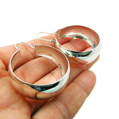 925 Sterling Silver Creole Hoops Circle Earrings
