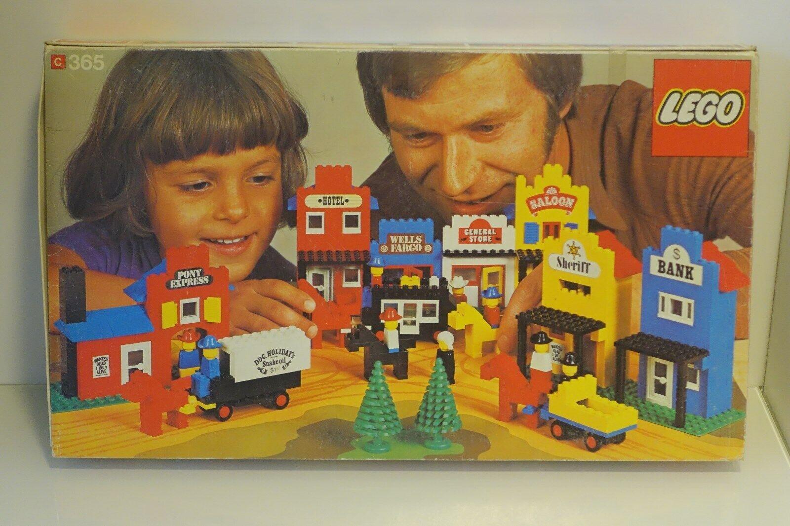 Lego 365 Westernstadt Motivplatte original Bauanleitung + Verpackung TOP 1975