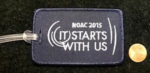ORDER-OF-THE-ARROW-BSA-NOAC-2015-OA-100TH-CENTENNIAL-PATCH-LUGGAGE-TAG-MINT-RARE