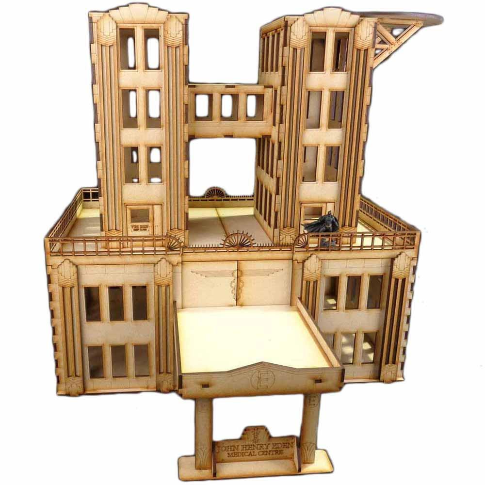 TTCombat - City Scenics - DCS034 - Hospital, great for Batman