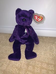 MINT!!! Ty Beanie Baby ~ PRINCESS the Diana Bear from 1997 ~ RARE /& RETIRED