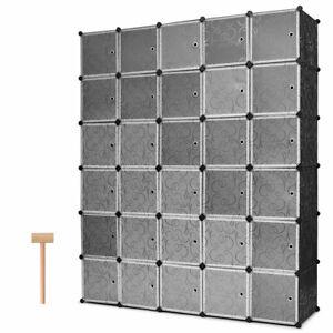 DIY 30 Cube Portable Closet Storage Organizer Clothes ...