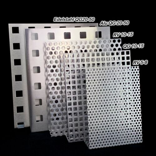 Aluminium Stainless Steel Hole Plates Various Dimensions /& Hole Pattern 1,5 /& 2mm Thick