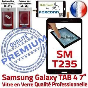 Vitre Tactile SM-T235 TAB 4 Assemblée Adhésif Prémonté Samsung Ecran Noir