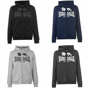Lonsdale-2-Stripe-Logo-Full-Zip-Hoody-Mens-Hoodie-Top-Sweatshirt-Sweater