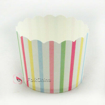 Rainbow Small Cake Baking Paper Cup Cupcake Muffin Cases Liners Wedding Party