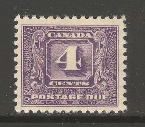 Canada #J8, 1930 4c Postage Due - Second Postage Due Series, Unused HR