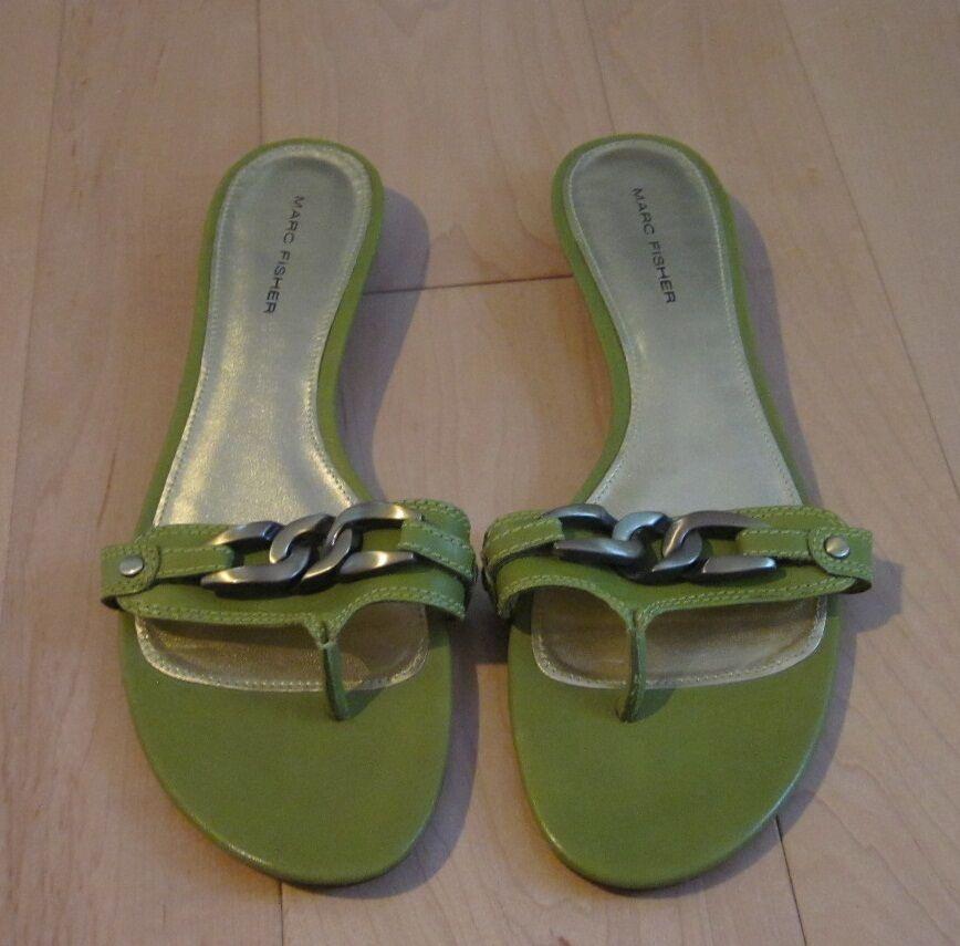 Marc Thong Fisher Wms Cute Green Thong Marc Sandals 8.5 0cbfdd
