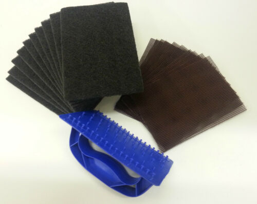 Griddle Grill Scourer Holder Mesh Screen Heavy Duty Oven Cleaning BBQ Cleaner