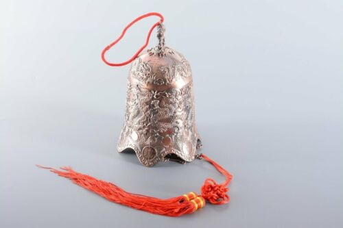 Drachenmuster 21cm hoch aus Alulegierung Deko Feng Shui Glocke