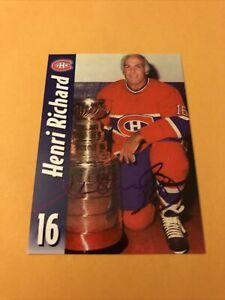 Henri Richard Signed Montreal Canadiens Card B