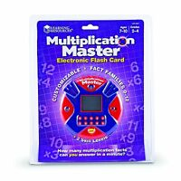 Learning Resources Multiplication Master Electronic Flash Card , New, Free Shipp on Sale