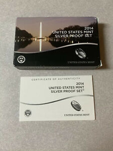 NO COINS or LENSES US Mint Replacement Box for 2020 Silver Proof Set with COA
