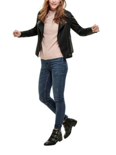 ONLY Damen Kunstleder Kurz-Jacke onlFLORA Faux Leather Biker PU Größe 34 bis 42