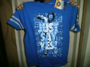 CLOSEOUT-SALE-Imported-From-USA-Just-Say-Yes-Wrestling-Boy-039-s-Shirt-L-10-12