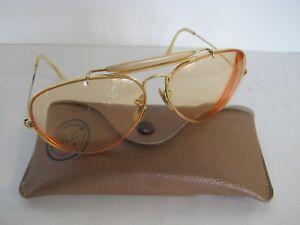 4b9e2c0ba4 Vintage Bausch Lomb B L Ray Ban Aviator Sunglasses With Prescription ...