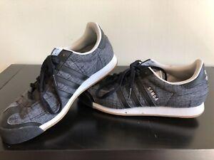 Details about Adidas Samoa Black Grey Textile Rare D70296 Mens US10