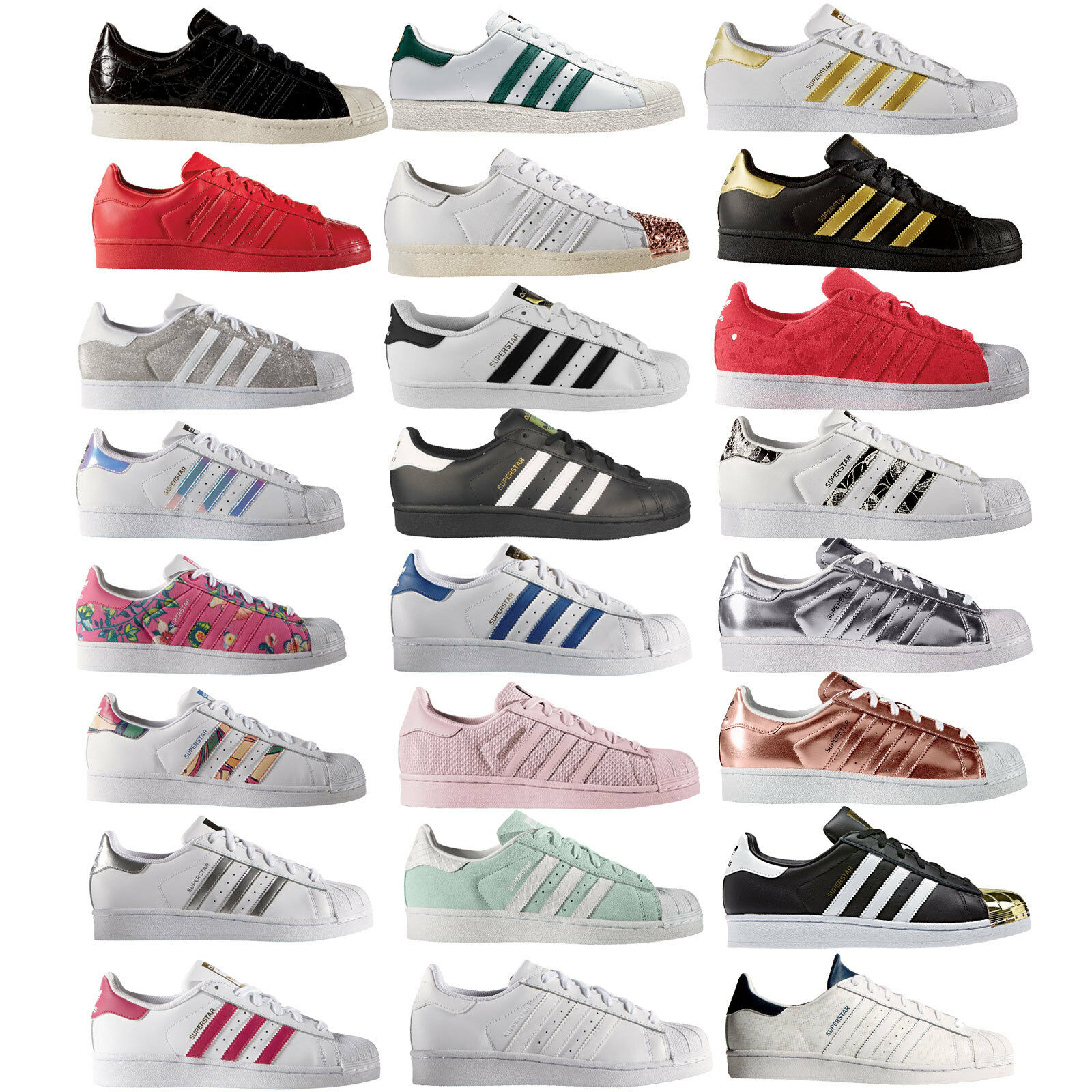 Adidas Originals Superstar Enfants Femme Baskets Gym Chaussures Chaussures Basses