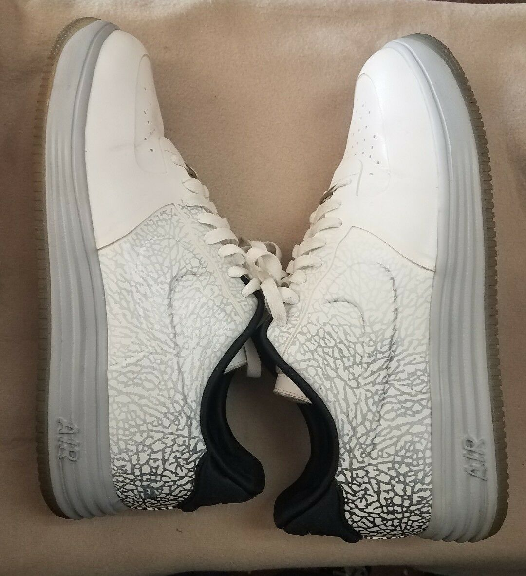 NIKE Men's Used Lunar Force 1 Lux VT Low White 644919-100 Size US12