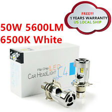 CREE H4 9003 Lamps 50W 5600LM High Low Beam LED Headlight Bulbs White 6500K 12V