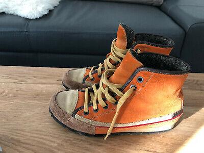 TOM TAILOR Gr. 37 UK 4,5 Chucks gefüttert Boots STIEFELETTEN Leder Winterschuhe | eBay
