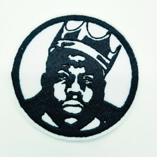 "THE NOTORIOUS BIG Embroidered Iron On Patch 3 /""  RAPPER SINGER"