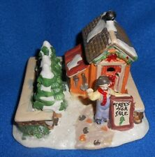 2004 Cobblestone Corners - Trees For Sale - Train/Holiday Village Figure -NICE
