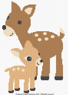 MOMMY and BABY Graph//Chart Afghan PATTERN Crochet Patterns ELEPHANTS