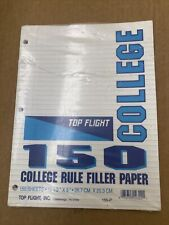 Top Flight Filler Paper Collage Rule 150 Sheets New And Unopened Free Shipping