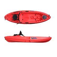 Sit On Top Fishing Kayak Canoe Galaxy Grayling - Red